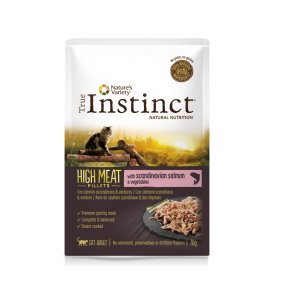 true instinct high meat salmon 70gr. fillets