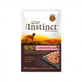 True Instinct High Meat Medium/Maxi Filetes Salmón & verduras 300gr