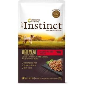 True Instinct High Meat Mini Filetes Buey & verduras 150 gr